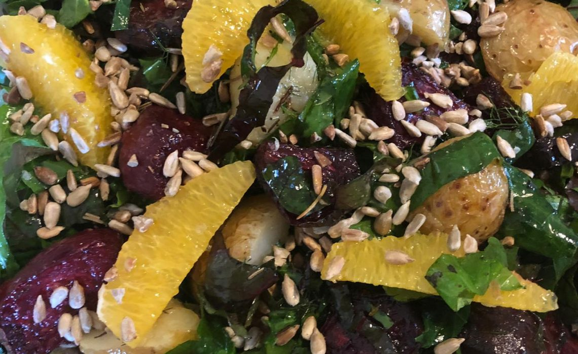 Beetroot and citrus with nasturtium salad-2
